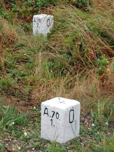 Határkövek az osztrák határon