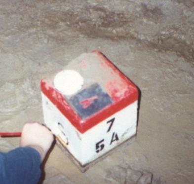 Határkő az Aggteleki barlangban föld alatt