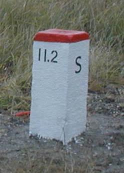 Határkő a csehszlovák határon