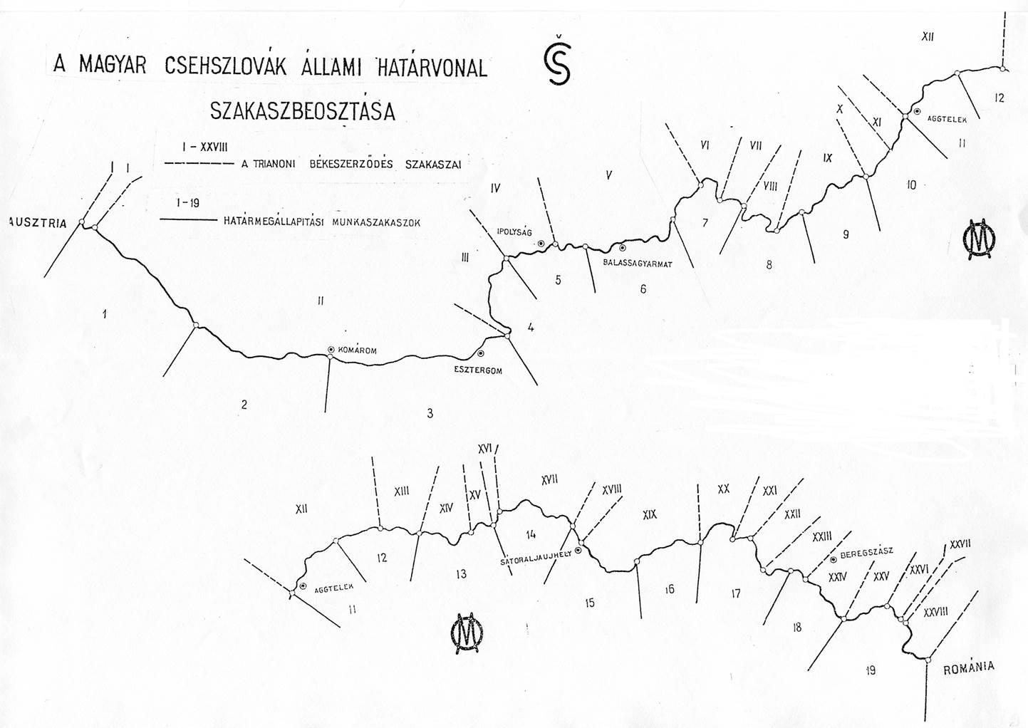Magyar csehszlovák határ